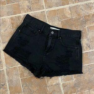 Bullhead Denim high waisted jean shorts size 27